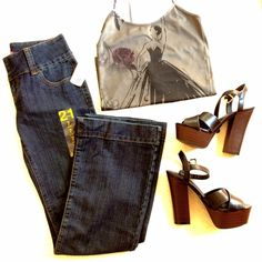 """NWT Forever 21 Bootcut Jeans OFFERS WELCOME. PLEASE USE THE OFFER BUTTON. I do not negotiate price in the comments. NWT bootcut jeans from Forever 21. Medium-dark wash. Zip and tab closure. Wide waistband. Button pockets in back. Size 7. Inseam is 31"""". Rise is 8"""". 15"""" across at waist laying flat. Leg opening is 20"""". 78% cotton, 20% polyester, 2% spandex. Forever 21 Jeans Boot Cut"""