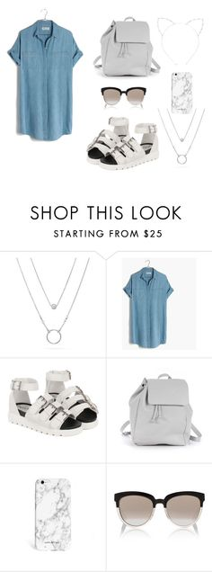 """""""Hot Summer"""" by lexiilexi ❤ liked on Polyvore featuring Madewell, Zara TRF, Christian Dior, Cara and shirtdress"""