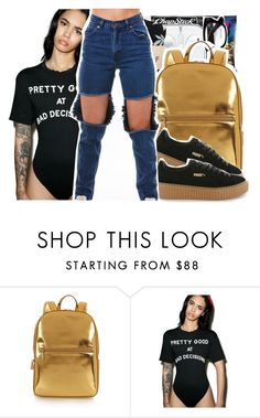 """⛺️"" by pinksemia ❤ liked on Polyvore featuring DKNY, Puma and Wildfox"