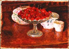 Bowl of Cherries by Pierre Bonnard