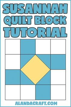 Learn how to make the Susannah Quilt Block with this step-by-step video and written tutorial. Includes a FREE downloadable table runner. No sign-up required. Quilt Blocks Easy, Quilt Block Patterns, Easy Quilts, Pattern Blocks, Diy And Crafts Sewing, Easy Sewing Projects, Sewing Projects For Beginners, Crafts To Make, Diy Crafts