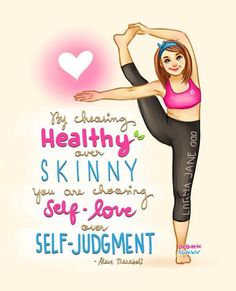 Choosing self love over self judgment....