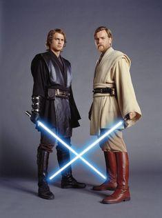 Ewan McGregor and Hayden Christensen in Star Wars: Episodio III - La venganza de los Sith