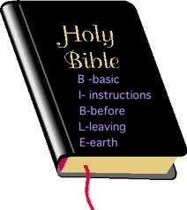 """Did you know that the word """"bible"""" is an acronym."""