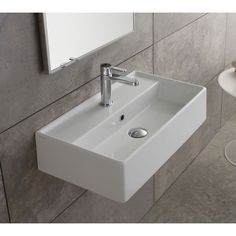 FREE SHIPPING! Shop Wayfair for Scarabeo by Nameeks Teorema Ceramic Wall Mounted Vessel Bathroom Sink - Great Deals on all Furniture products with the best selection to choose from!