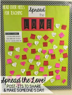Monday Made Its: Valentine's Day-use Post-It notes to spread love to others!