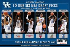 Congratulations to UK Wildcats Anthony Davis, Michael Kidd-Gilchrist, Terrence Jones, Marquis Teague, Doron Lamb and Darius Miller on their historic evening at the 2012 NBA Draft! Good luck in the NBA!