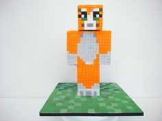 3D - Stampy Cat - Minecraft Cake - Cake by Laras Theme Cakes