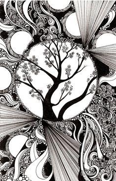 Spring Splendor Ink Drawing By Danielle Scott