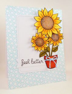 You and Your Big Dreams: These are a few of my favorite things . . . Lawn Fawn Sunflowers Hexagon