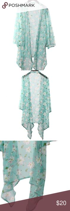 Turquoise cardigan!! NWT!! Floral print dress!! Sweaters Cardigans