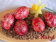 Hagyományos hímes tojás, Dekoráció, Húsvéti apróságok, Meska