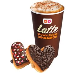 Dunkin Donuts is doing a pretty sweet special promotion for V-Day -- we can't help craving one of these donut hearts. #DDHearts