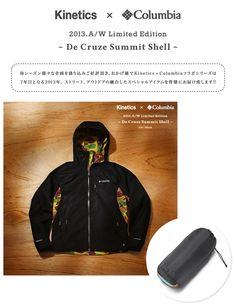 (Two colors) Rakuten Kinetics × Columbia De Cruze Summit Shell [water-repellent] [] [antifouling light outer] [free shipping] (kinetics × Co ...