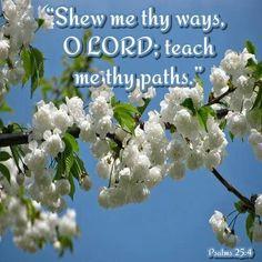 Psalm 25:4 KJV