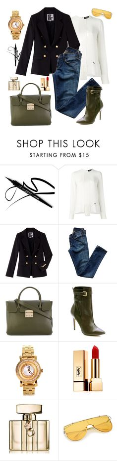 """""""Untitled #2278"""" by ladydelicat ❤ liked on Polyvore featuring Dsquared2, Nicoli, Citizens of Humanity, Furla, Charles by Charles David, Versace, Yves Saint Laurent and Gucci"""