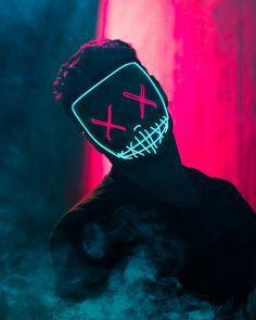 "Masque ""The Purge"" Bright American Nightmare - Masques Lumineux, Casques LED bricolage Hacker Wallpaper, Screen Wallpaper, Mobile Wallpaper, Wallpaper Backgrounds, Iphone Wallpaper, Mascara Anime, Purge Mask, Smoke Photography, Joker Wallpapers"