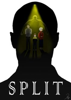 Split fanart movie poster by darth vader, fan art, movie posters, movies Scary Movies, Great Movies, Horror Movies, Fan Art Percy Jackson, Split Movie, Simon And Garfunkel, Minimal Movie Posters, Silhouette Images, English Movies
