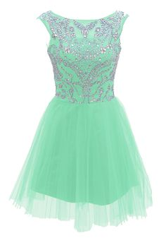 Short Mint Prom Dresses 2015 New Style A Line Silver Beads Spakle Tulle Homecoming Dress For Teens - Thumbnail 1 Mint Prom Dresses, Dama Dresses, Prom Dresses 2015, Grad Dresses, Dresses For Teens, Dress Outfits, Evening Dresses, Dress Prom, Tulle Dress