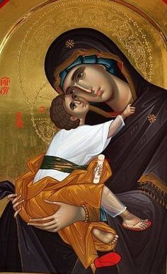 """theraccolta: """"Saint Anna with the Madonna and Child Jesus If Our Lord will not refuse the petitions of His Blessed Mother how much more propitious will He be to those of His Holy Grandmother, Saint. Religious Pictures, Religious Icons, Religious Art, Spiritual Pictures, Byzantine Icons, Byzantine Art, Writing Icon, Images Of Mary, Christian Artwork"""