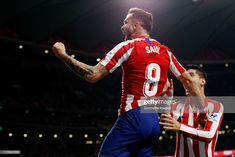 Saul Niguez of Atletico Madrid Celebrates during the La Liga. Athletic, Celebrities, Hs Sports, Zodiac Sign Tattoos, High Resolution Picture, The League, News, Celebs, Athlete