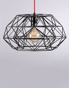 Diamond filament pendant - Holloways of Ludlow Chandeliers, Chandelier Lighting, Luminaire Design, Contemporary Interior, Hanging Lights, Decoration, Geometry, Bulb, Table Lamp