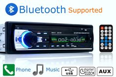 자동차 라디오 스테레오 플레이어 블루투스 전화 AUX-IN MP3 FM/USB/1 Din/원격 제어 12 볼트 자동차 오디오 자동 2017 판매 새로운