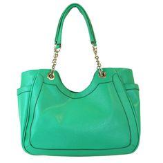 Nicole Scoop Double Shoulder Bag in green