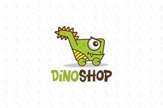 Dino Shop - $399 (negotiable) http://www.stronglogos.com/product/dino-shop #logo #design #sale #dinosaur #monster #shopping #kids #toy #store #retail #outlets