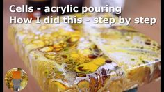 Acrylic pouring cells with pva and floetrol - how to and recipe