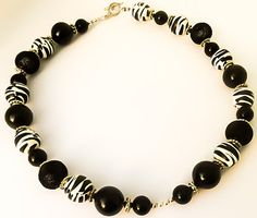 CLEARANCE SALE, Black and white, bubblegum necklace, gumball necklace, chunky necklace, girls jewelry, zebra, Dalmation
