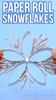 These paper roll snowflakes are SO BEAUTIFUL and really easy to make! This is such a great Christmas craft that you can leave up all winter long. Hang them on the Christmas tree, or in the window as a Christmas Crafts For Kids, Diy Christmas Ornaments, Simple Christmas, Holiday Crafts, Christmas Tree, Christmas Activities, Paper Towel Rolls, Toilet Paper Roll Crafts, How To Make Paper