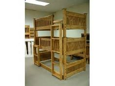 Triple Bunk Bed Custom Made and Separable by ParkCityBunkBeds.com