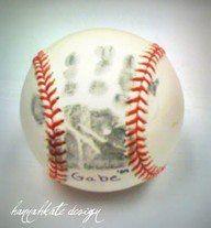 Great idea for baseball parents - baby's handprint on a baseball for-baseball-moms