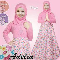 Gamis Baju Anak Perempuan Motif Bunga Mote  c2f1883d32