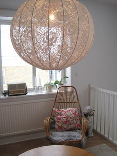 Lamp  Pendant light made in shabby chic style by Missremaidsweden, $99.00