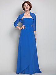 Sheath/Column Strapless Chiffon  Mother of the Bride Dress (605574) – USD $ 119.99
