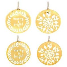 Flat Disk Ornament Assorted