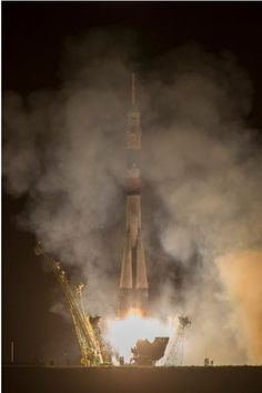 The Soyuz TMA-10M rocket launches from the Baikonur Cosmodrome in Kazakhstan carrying the Expedition 37 crew to orbit. Credit: NASA/Carla Cioffi.