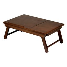 Winsome Wood Alden Furniture Lap Desk Flip Top Drawer W Foldable Legs Bed Home