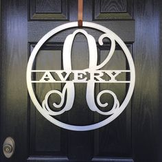 Metal Last Name Sign / Front Door Wreath- Over 40 color Choices Looking for a versatile and personal gift? This makes a unique and touching gift for any couple, family, or special memory. Perfect for wedding gifts, anniversary gifts, housewarming gifts, or special occasion mementos. This monogram is perfect for indoors or outdoors. You could hang this over the master bed, a mantel focal point, placed over a door way, tie a ribbon to this and make it a door hanger, or hang it on the exterior…
