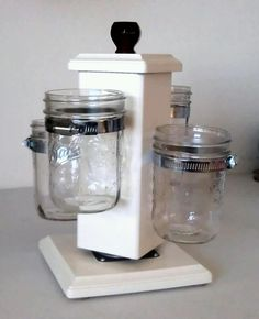 Ball Jar Desk Caddy Desk Organizer Utensil by LivingSewBeautiful, $87.00