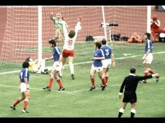 Poland 2 Yugoslavia 1 in 1974 in Frankfurt. Grzegorz Lato scored on 62 minutes to make it 2-1 in Round 2, Group B at the World Cup Finals.