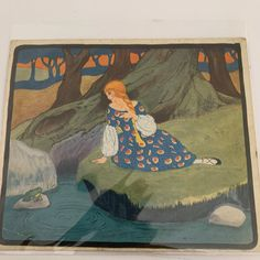 Excited to share this item from my shop: The Fairy and The Frog Prince, Little Tots Nursery Tunes, Signed by the artist, Maude Trube. Dated Vintage Ephemera, Vintage Ephemera, Vintage Cards, Sweet Box, Vintage Buttons, Blue Fabric, French Vintage, Prince, Fairy, Nursery