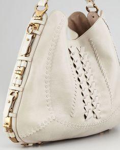 Salvatore Ferragamo Fergie Braided Leather Gancini Hobo Bag b4cc34a60992f