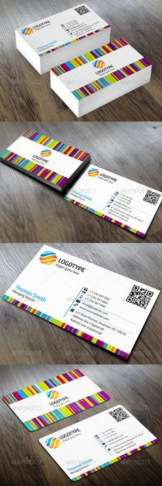 Colorful Corporate Business Card PSD Template • Only available here ➝ http://graphicriver.net/item/corporate-business-card/5942080?ref=pxcr