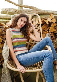 Parul   Knitrowan Lisa Richardson, Easy Knitting, Rowan, Free Pattern, Cotton, Couture Facile, Sewing Patterns Free