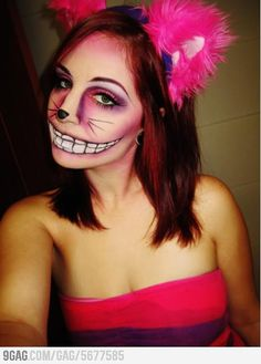 My friends Cheshire Cat makeup