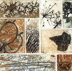 Kerry Buck collagraph studies