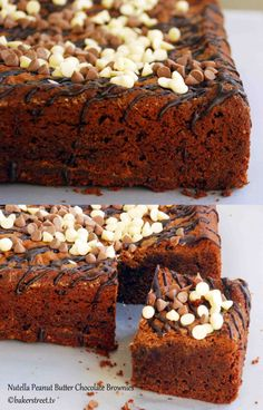 Nutella Peanut butter Chocolate Brownies